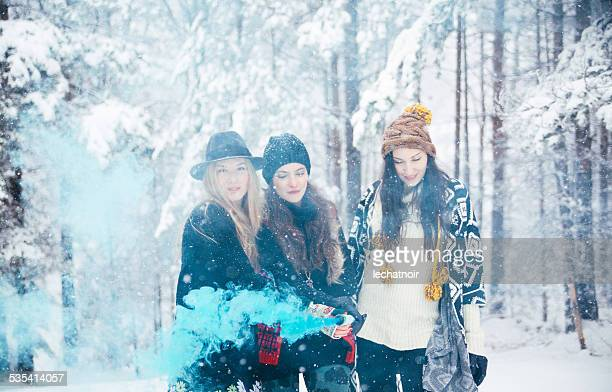 Smokey winter fashion