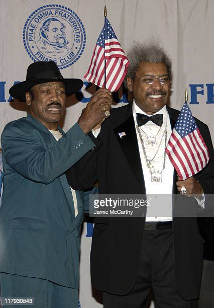 Smokin' Joe Frazier and Don King during The Friars Club Roast of Don King at The New York Hilton in New York City, New York, United States.