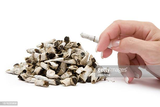 smoking addiction - female mound stock pictures, royalty-free photos & images