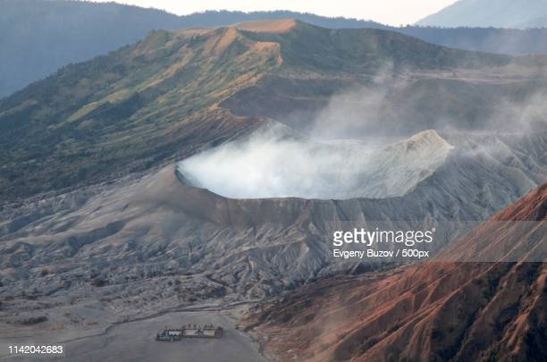 smoking bromo - east java province stock pictures, royalty-free photos & images