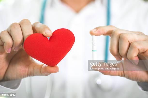 Smoking causes heart disease.