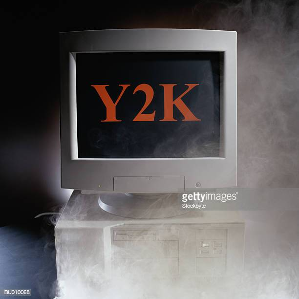 smoking computer showing y2k - 2000 stock pictures, royalty-free photos & images