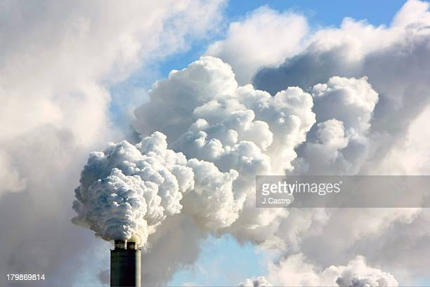 smoking factory - global warming stock pictures, royalty-free photos & images