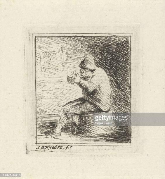 Smoking farmer Simon Andreas Krausz 1770 1825