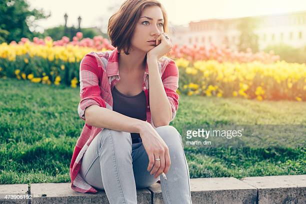 smoking girl - little girl smoking cigarette stock photos and pictures