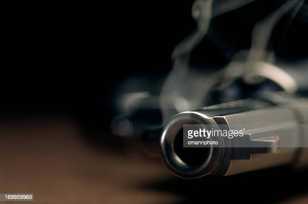 smoking gun lying on the floor, revolver - shooting crime stock pictures, royalty-free photos & images