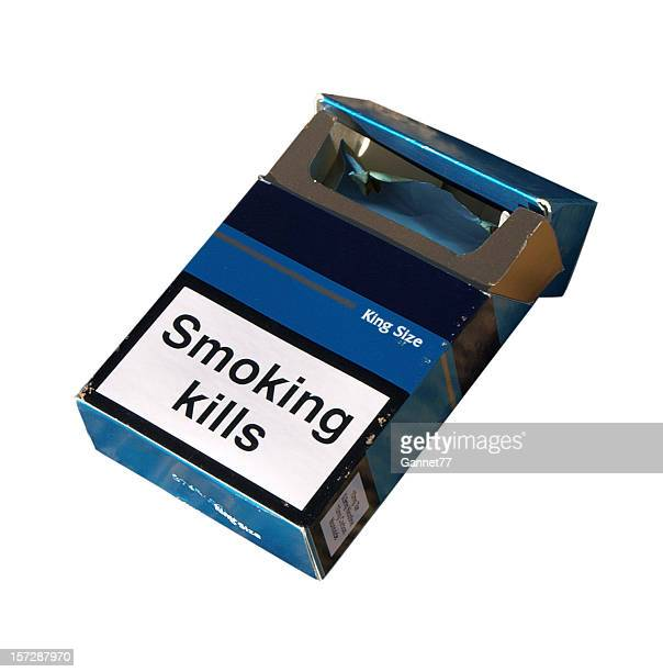 smoking kills - cigarette pack stock pictures, royalty-free photos & images