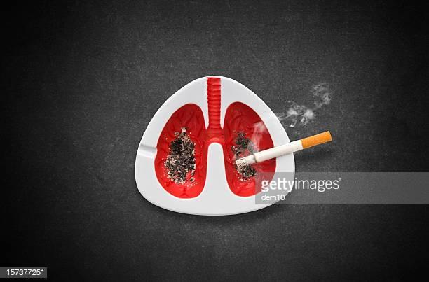 rauchen ist tödlich - raucher lunge stock-fotos und bilder