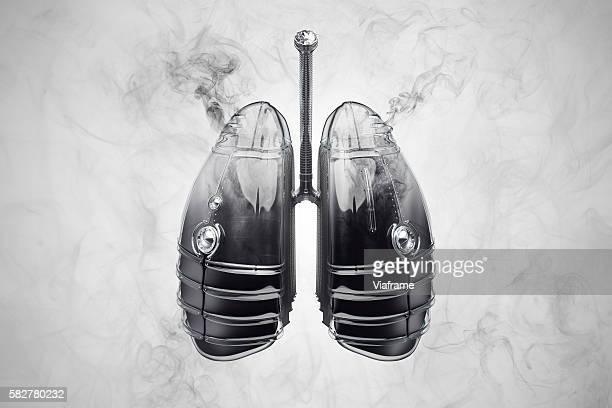 smoking lung - raucher lunge stock-fotos und bilder