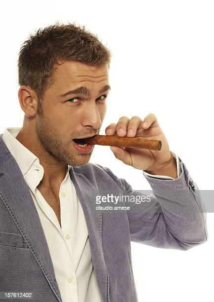Smoking Man. Color Image