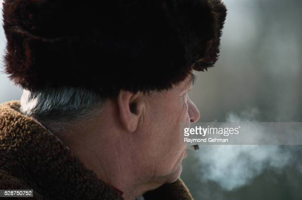 smoking man - bialowieza forest stock pictures, royalty-free photos & images