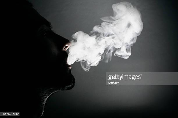 smoking portrait