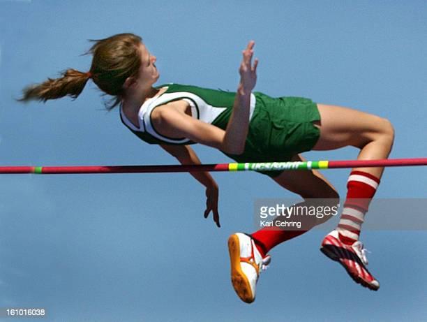 Smoky Hill sophomore Kaila Wilson won the high jump with a height of 5 feet 2 inches The Hinkley Invitational track and field meet was held at Legacy...