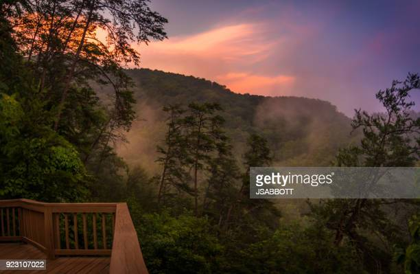 smoky mountain evening - great smoky mountains stock pictures, royalty-free photos & images