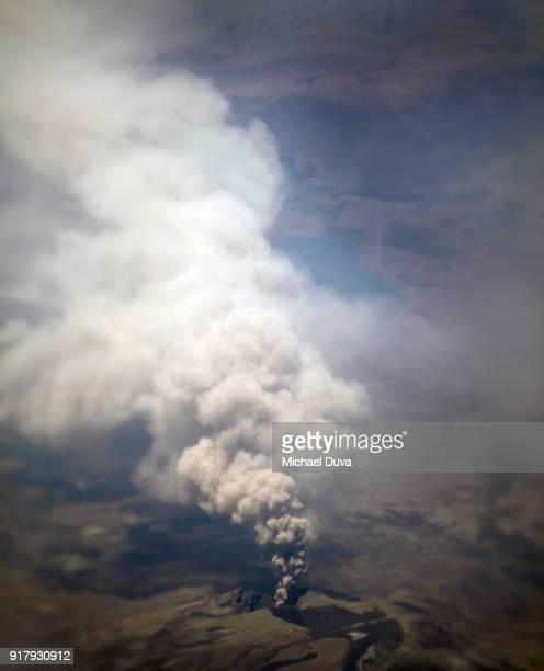 Smoldering volcano