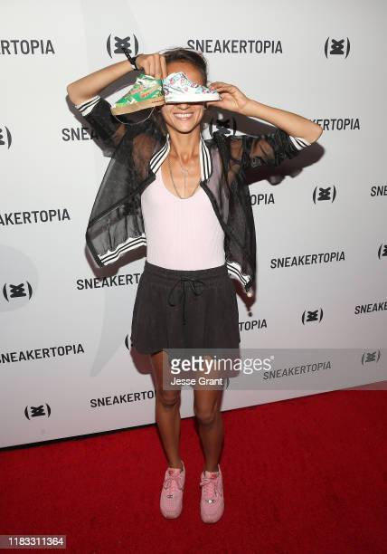 Smoluk attends the Sneakertopia Los Angeles VIP Preview at HHLA on October 24 2019 in Los Angeles California