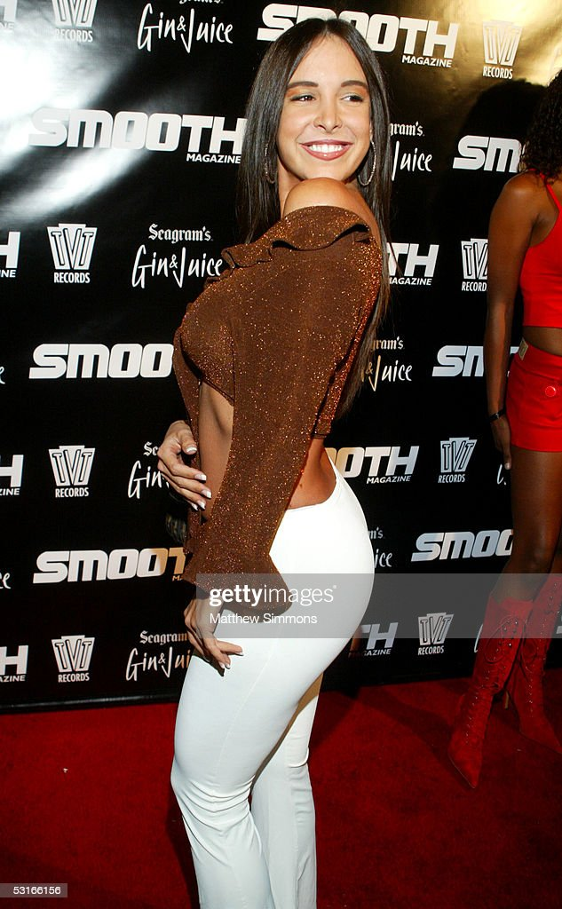 Smooth Magazine cover girl Mayra Veronica arrives to Smooth Magazine's BET Awards After Party on June 29, 2005 at Club Mood in Hollywood, California.