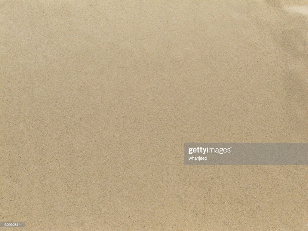 Smooth Sand At Sea For Brown Color Background Stock Photo