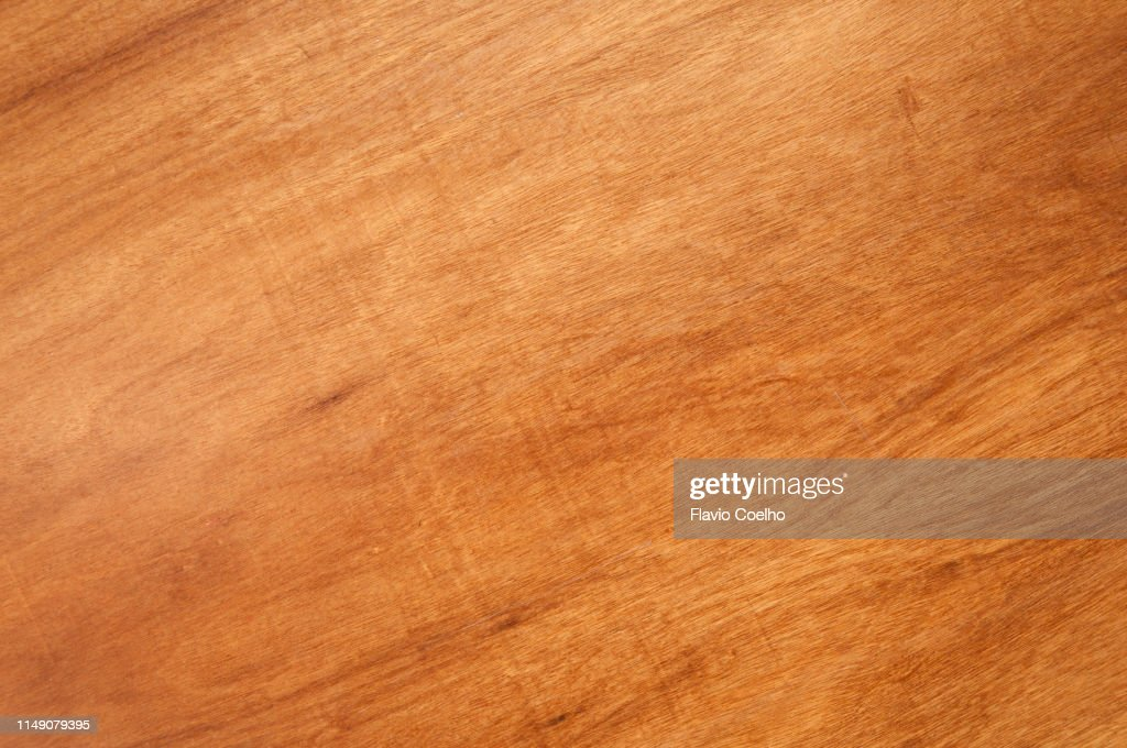 Smooth surface of wooden table : Stock Photo