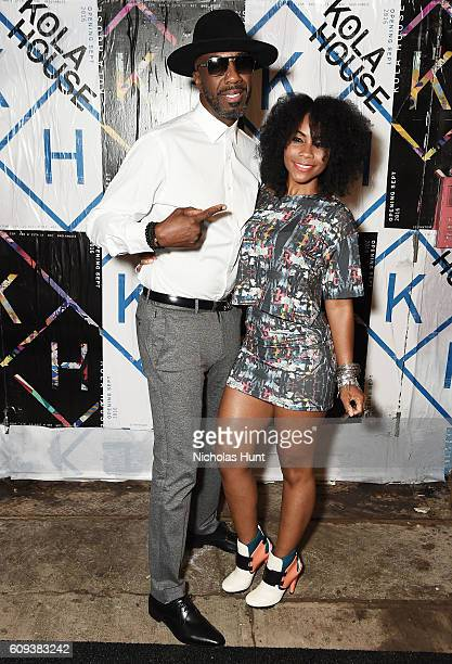 J B Smoove aka Jerry Angelo Brooks and Shahidah Omar attend the Kola House Opening Party at Kola House on September 20 2016 in New York City