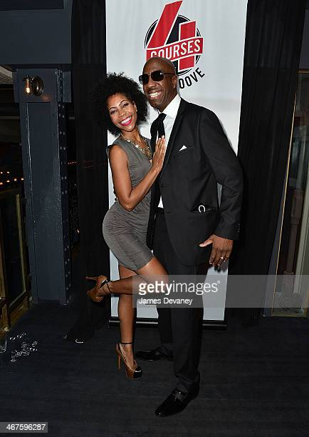 B Smoove and his singer wife Shahidah Omar attend MSG Network's Season 2 Launch Party for Four Courses With JB Smoove at La Cenita on February 6 2014...