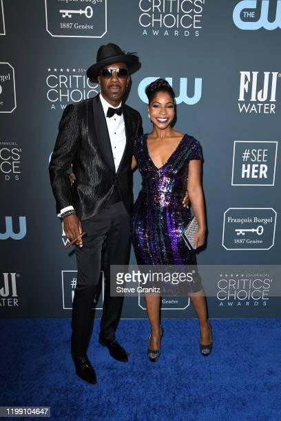 Smoove and Shahidah Omar attend the 25th Annual Critics' Choice Awards at Barker Hangar on January 12, 2020 in Santa Monica, California.