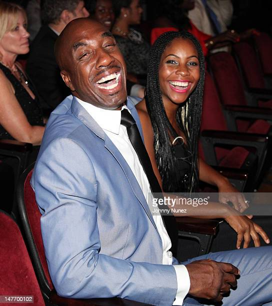B Smoove and wife Shahidah Omar attend the 2012 BET Awards at The Shrine Auditorium on July 1 2012 in Los Angeles California