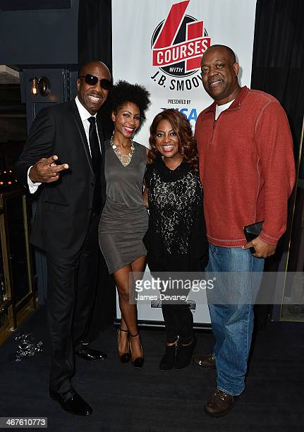 B Smoove and wife singer Shahidah Omar pose with Sherri Shepherd and her husband Lamar Sally at MSG Network's Season 2 Launch Party for Four Courses...