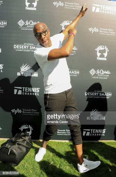 B Smoove arrives at The 14th Annual Desert Smash Celebrity Tennis Event on March 6 2018 in La Quinta California
