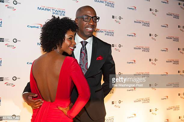 B Smoove arrives on the red carpet for the 17TH Annual Mark Twain Prize for American Humor with his wife Shahidah Omar at the Kennedy Center October...