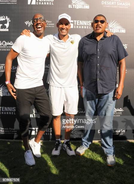 B Smoove Boris Kodjoe and Omar Miller arrive at The 14th Annual Desert Smash Celebrity Tennis Event on March 6 2018 in La Quinta California