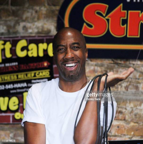 Smoove performs at The Stress Factory Comedy Club on April 7, 2011 in New Brunswick, New Jersey.