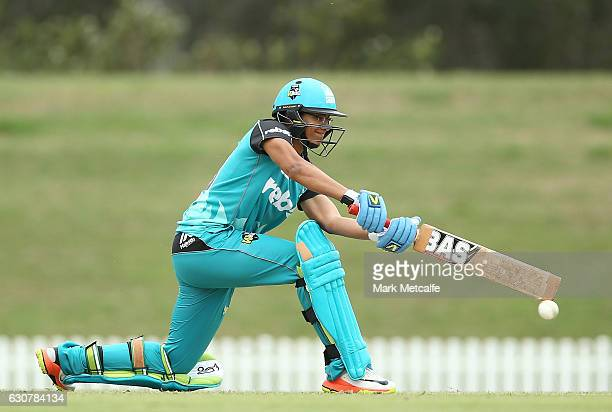 Smriti Mandhana of the Heat bats during the WBBL match between Heat and Thunder at Blacktown International Sportspark on January 2 2017 in Sydney...