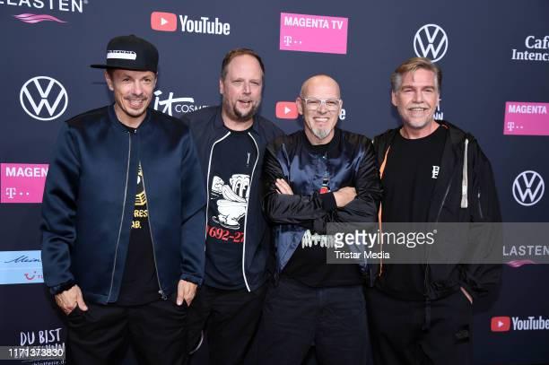 Smudo Thomas D Michi Beck and Andreas Rieke of the band Die Fantastischen Vier attend the YouTube Goldene Kamera Digital Awards at Kraftwerk on...