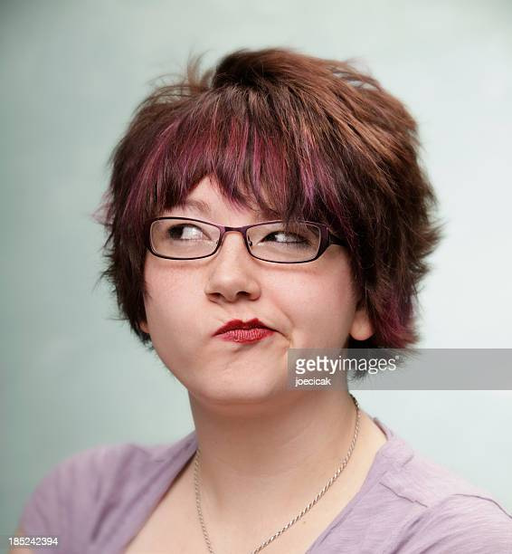 smug woman - sneering stock pictures, royalty-free photos & images