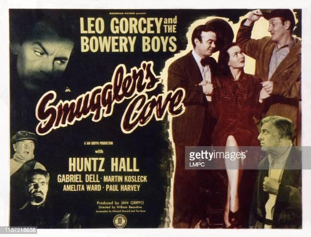 Smuggler's Cove US lobbycard top left Martin Kosleck right Leo Gorcey Amelita Ward Huntz Hall Paul Harvey 1948