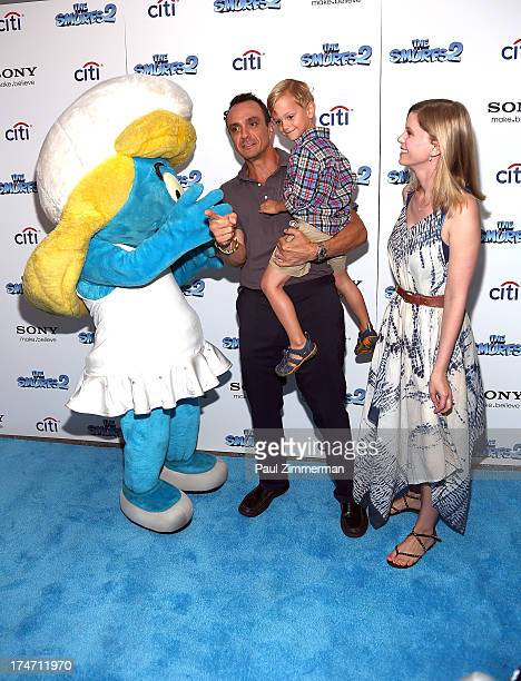Smurfette Hank Azaria Hal Azaria and Katie Wright attend The Smurfs 2 New York Blue Carpet Screening at Lighthouse International Theater on July 28...