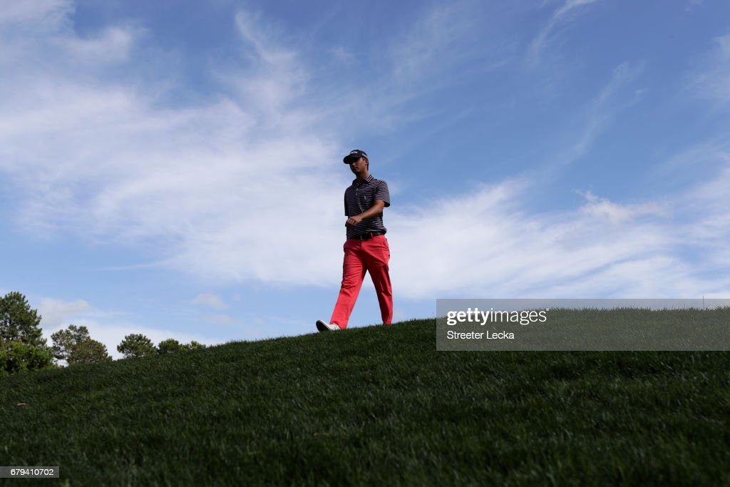 Smylie Kaufman walks off of the third green during round two of the Wells Fargo Championship at Eagle Point Golf Club on May 5, 2017 in Wilmington, North Carolina.