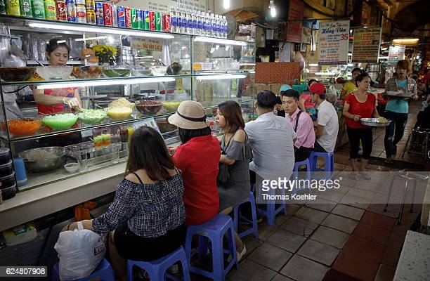 Snack bar in a market hall in Ho Chi Minh City on November 01 2016 in Ho Chi Minh City Vietnam