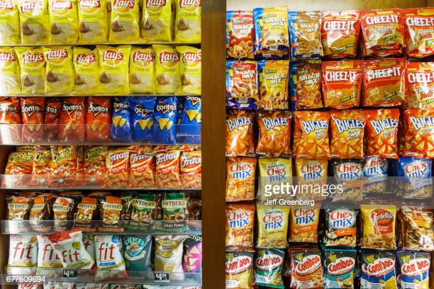 Snack food for sale at John F Kennedy International Airport