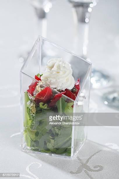Snack of arugula salad