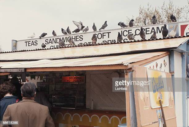 Snack Stand in London photographed on 24th April 1977