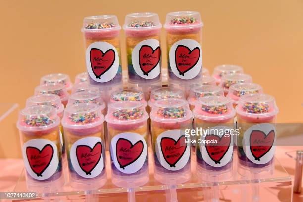 Snacks on display at the Alber Elbaz X LeSportsac New York Fashion Week Party at Gallery I at Spring Studios on September 5 2018 in New York City