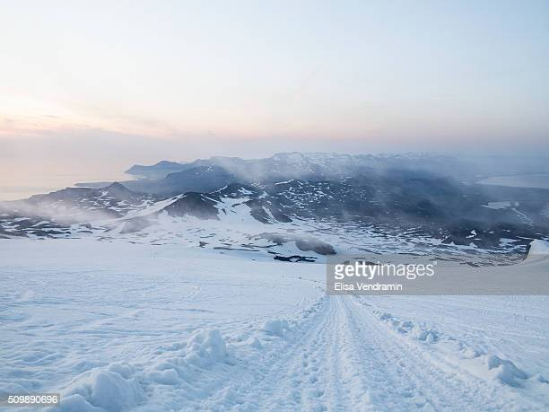Snaefellsjokull is a stratovolcano with a glacier covering its summit in western Iceland It is situated on the most western part of the Snaefellsnes...