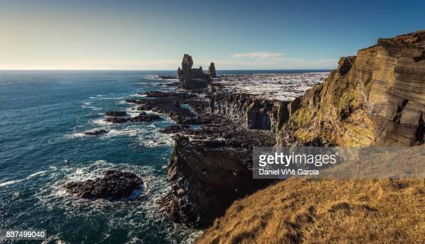 Snaefellsnes rocky coastline cliffs in Iceland