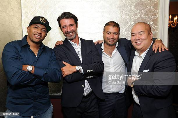 Snagz Patrick Mouratoglou Kamal Hotchandani and Paul Earhardt attend the Haute Time dinner to celebrate Patrick Mouratoglou as their newest...