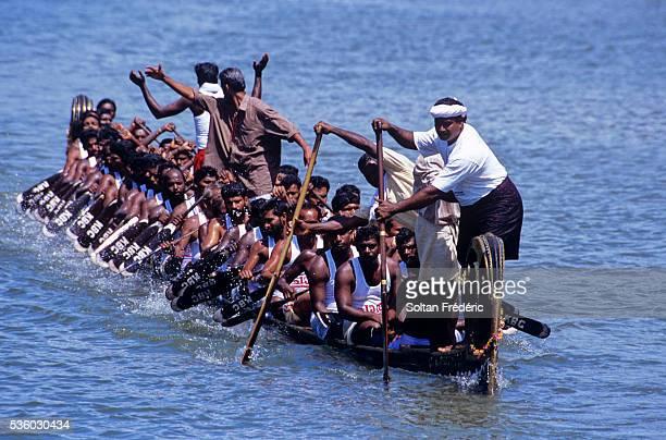 Snake Boat Race in Kerala Backwaters