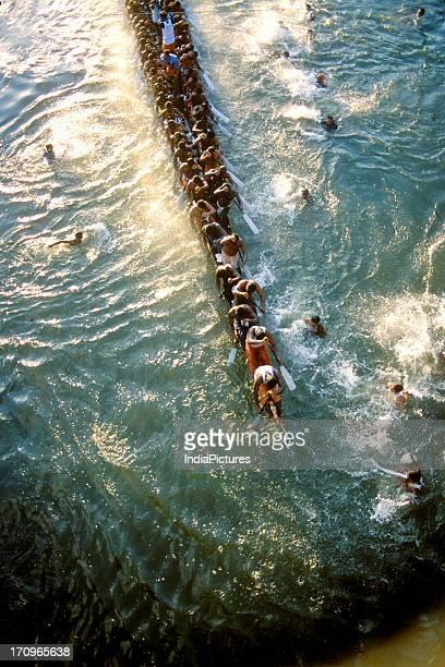Snake boat racing at Payippad near Haripad Kerala India
