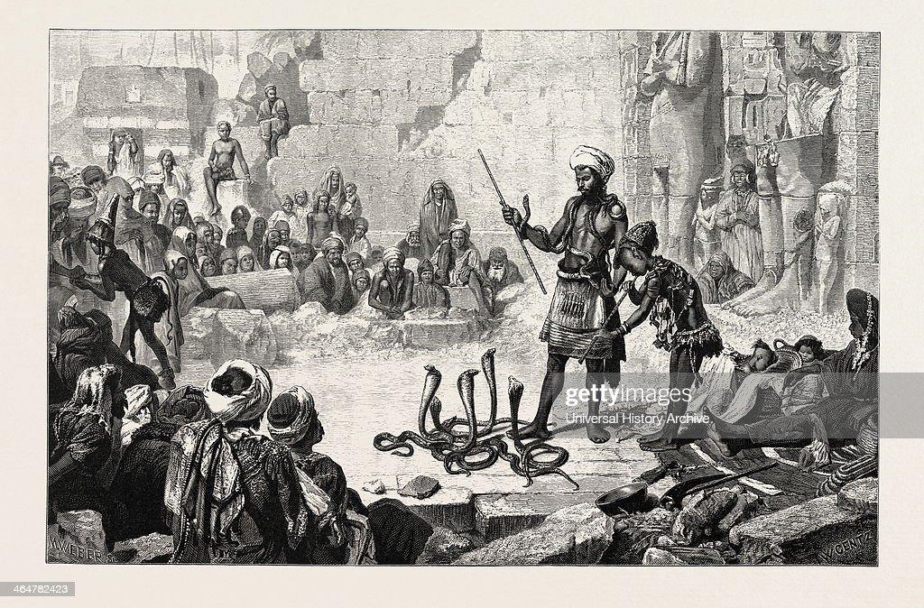 Snake Charmer In The Court Of Medinet Haboo  Egypt