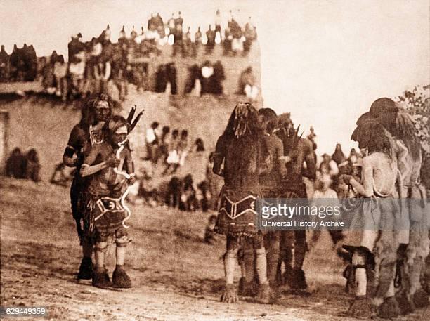 Snake Dancer and 'Hugger' Moki Tribe Arizona 1921
